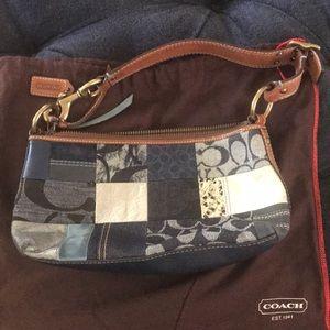 Vintage, rare, Coach denim patch handle bag